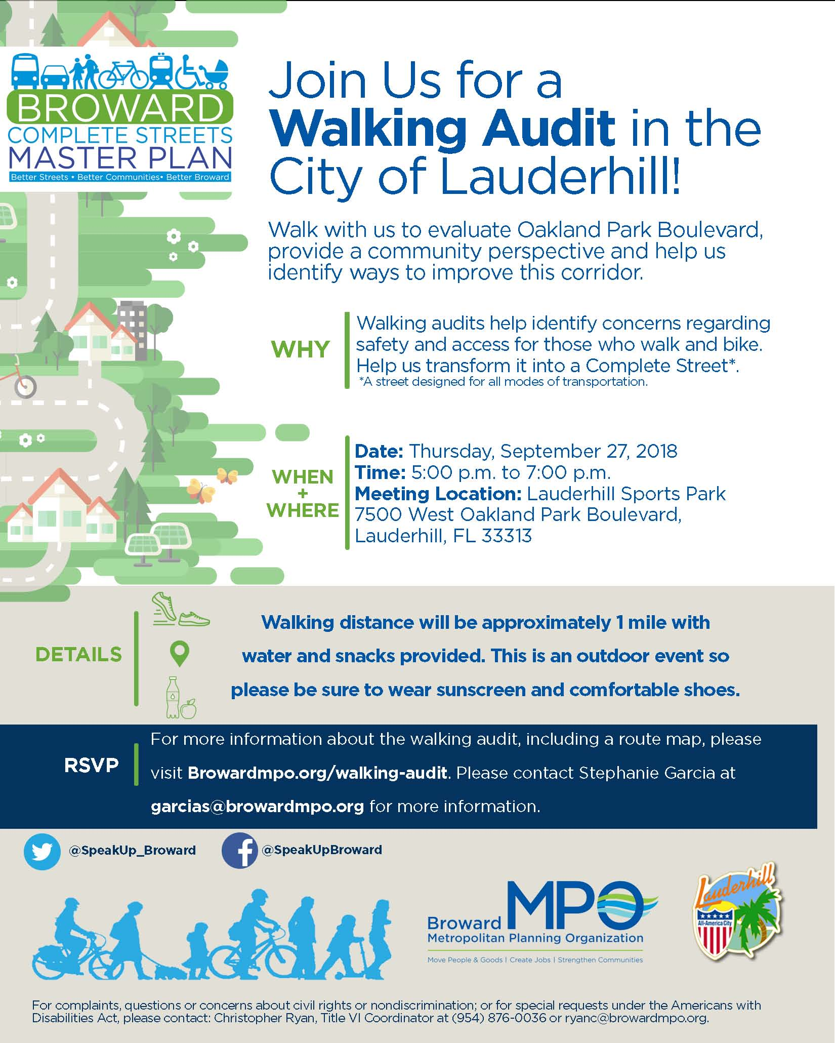 20180724 Walking Audit Flyer Lauderhill
