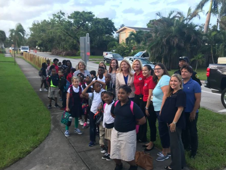 Broward MPO Participates in Walk to School Day 2017
