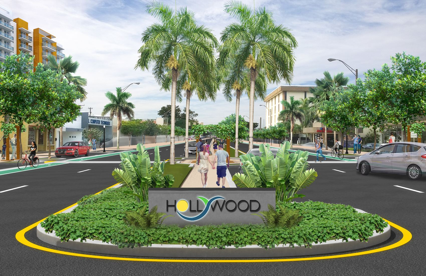 Hollywood Complete Streets Rendering