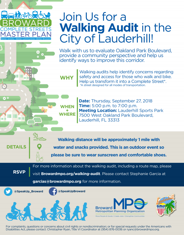Lauderhill Walking Audit