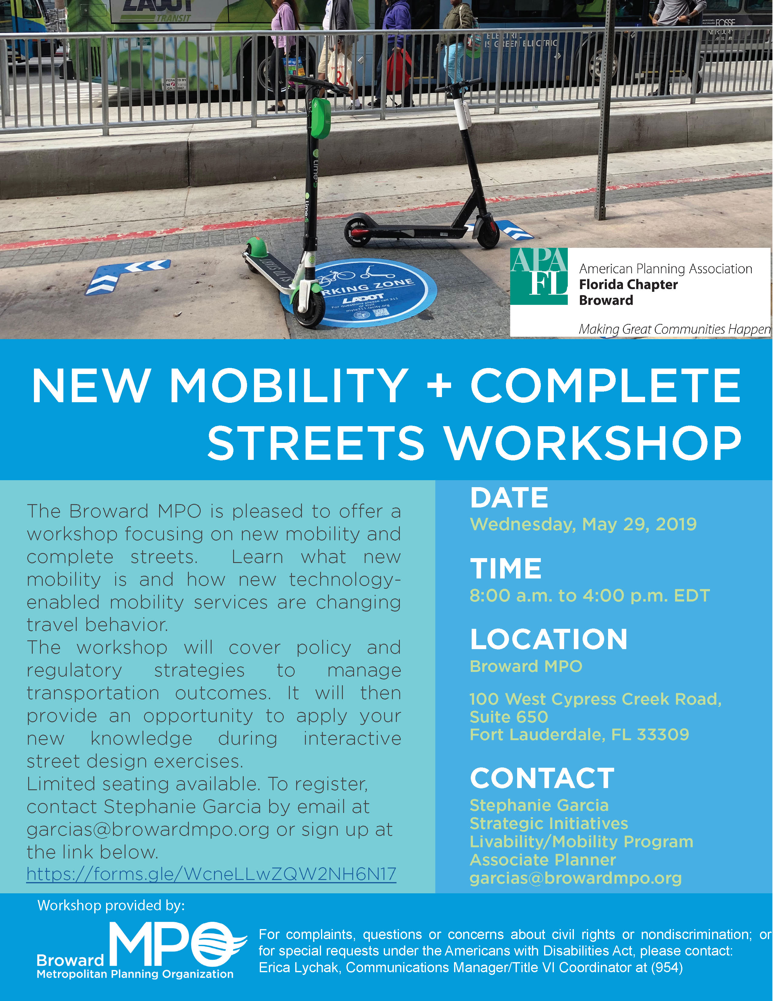 Making New Mobility Work for Your Community Workshop Complete Streets Page 2