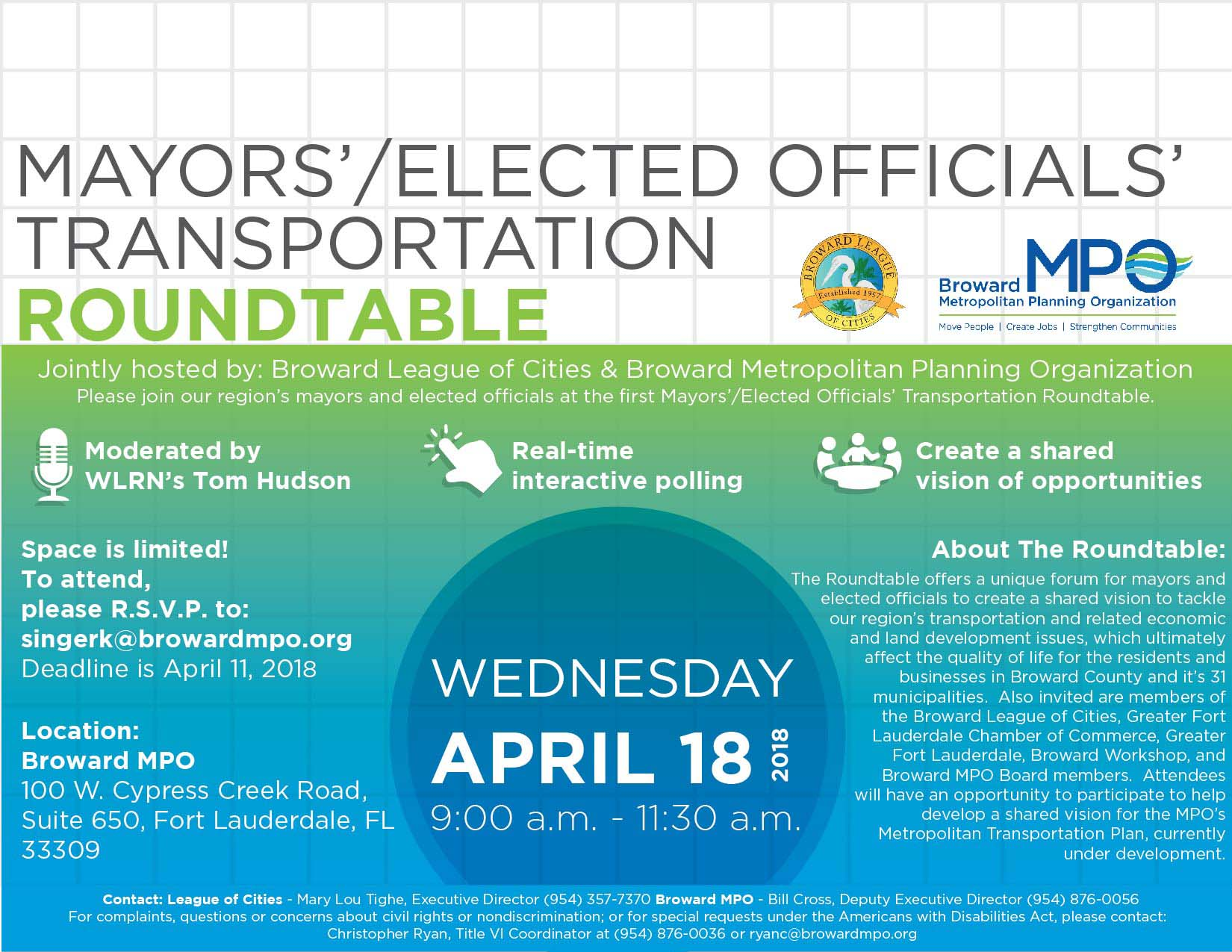 Mayors Elected Officials Roundtable Flyer