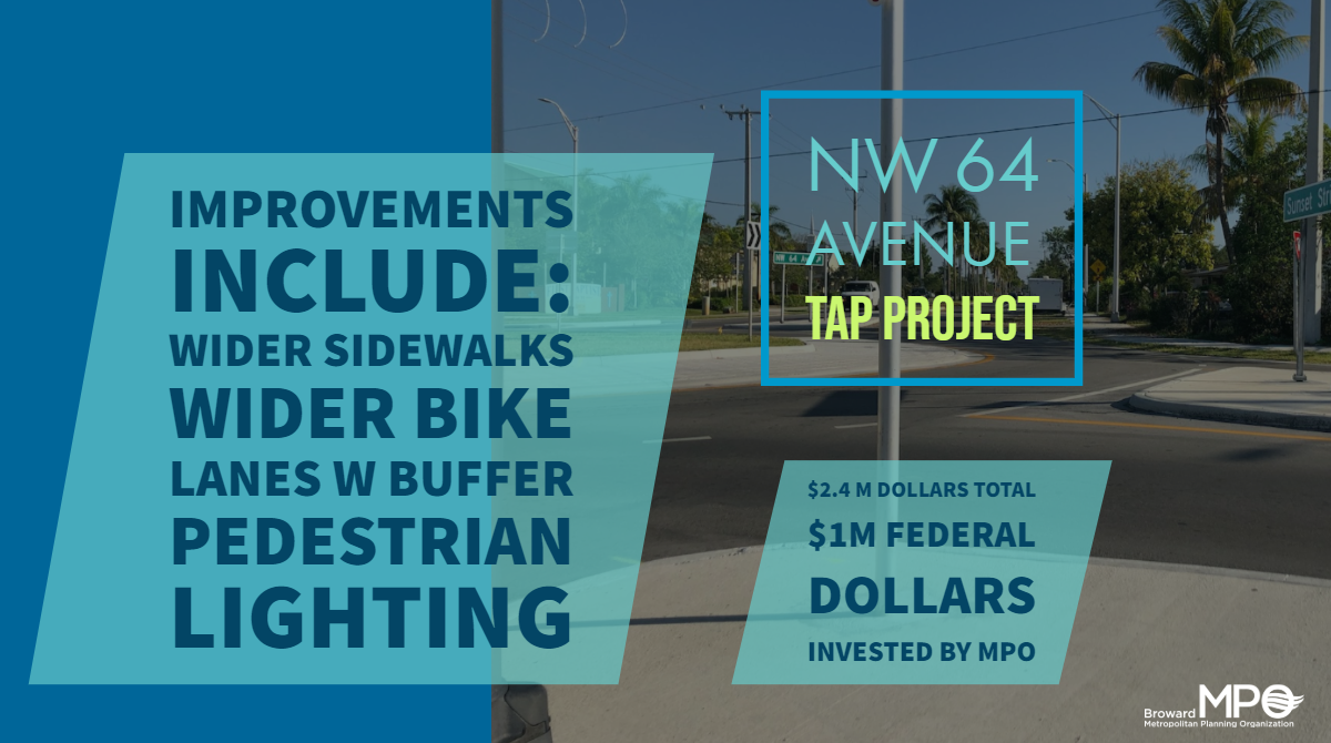 The NW 64 Avenue Project in Sunrise is now completed!
