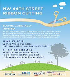 NW 44th Street Bike Lane Opening