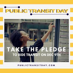 Celebrate Public Transit Day on December 9th