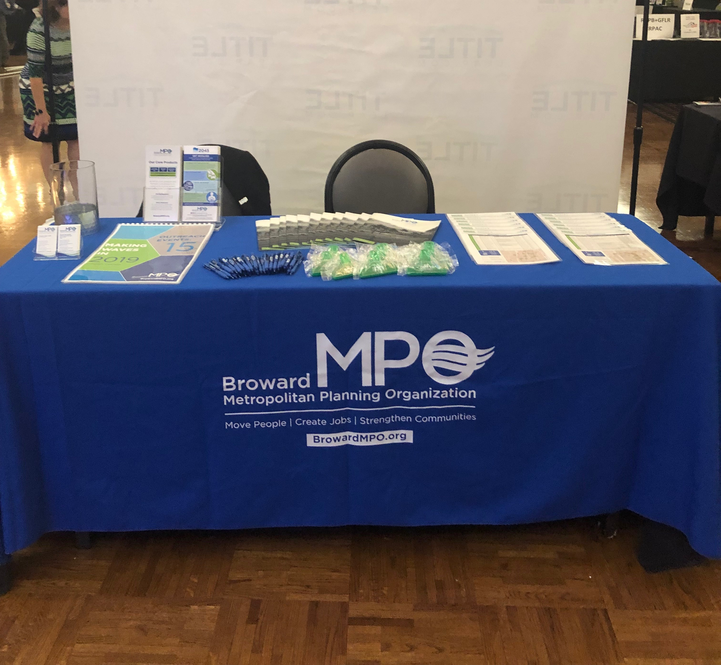 Broward MPO Booth display