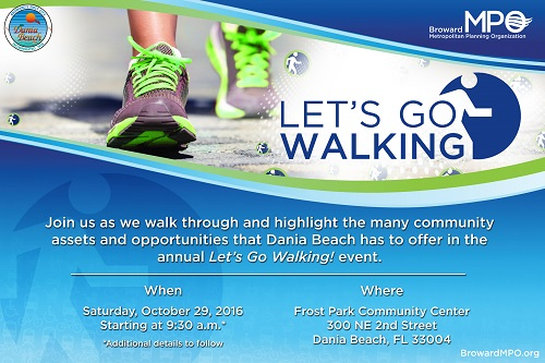 """First """"Let's Go Walking"""" Event To Be Held in Dania Beach"""