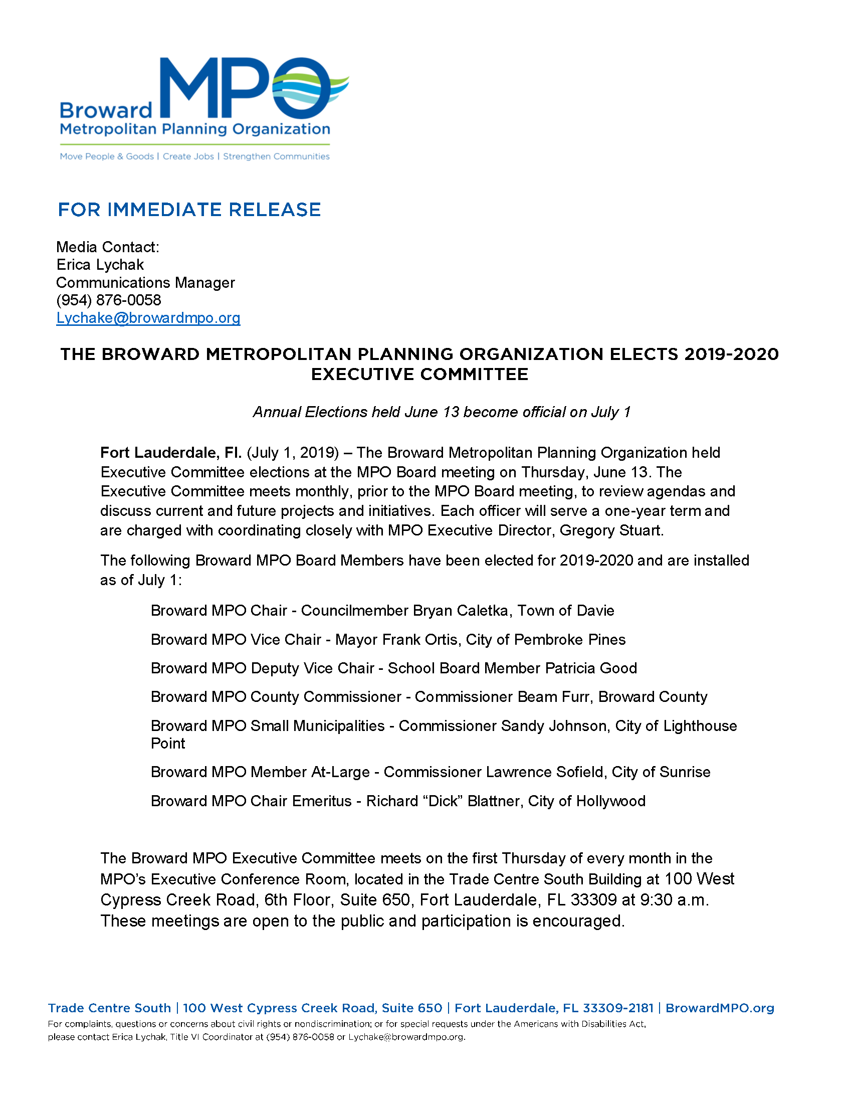 20190791 Executive Committee press release Page 1