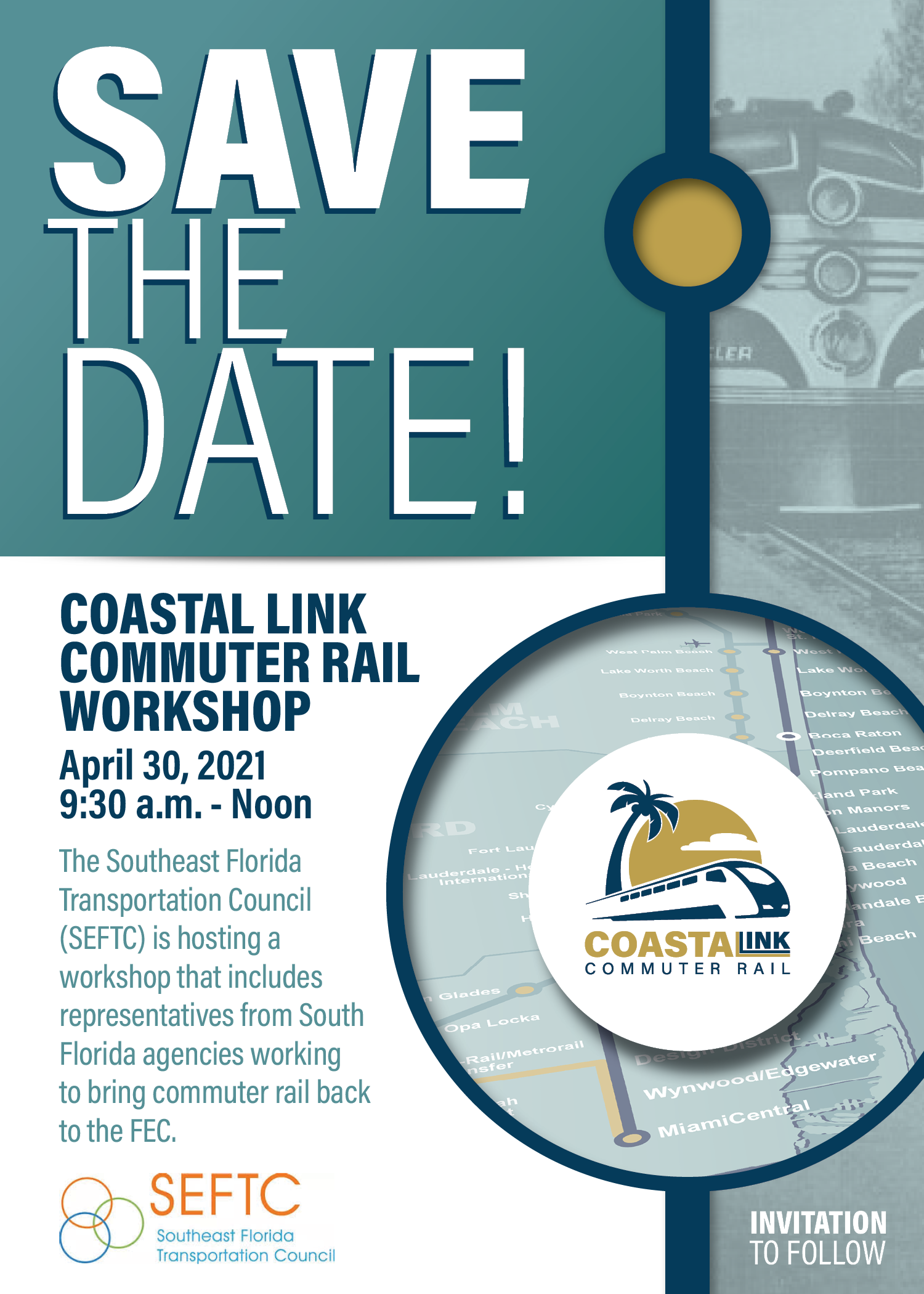 Coastal Link Commuter Rail Save the Date