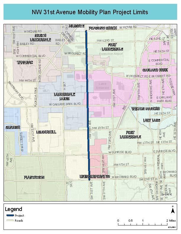 Mobility Plan Study Limits Map