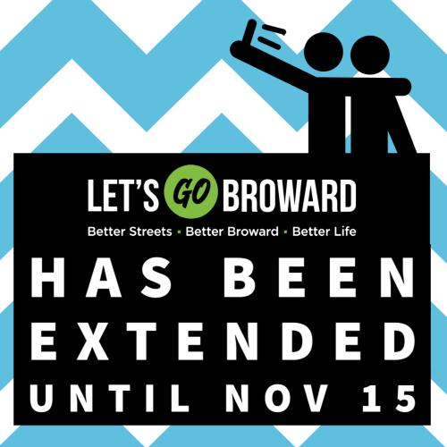 Let's Go Broward has been extended until Nov 15