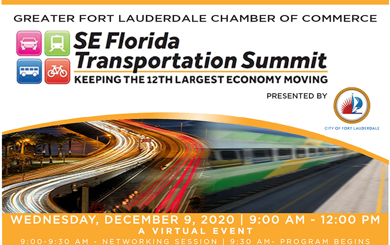 Event Flyer for SE FL Transportation Summit, info in text too