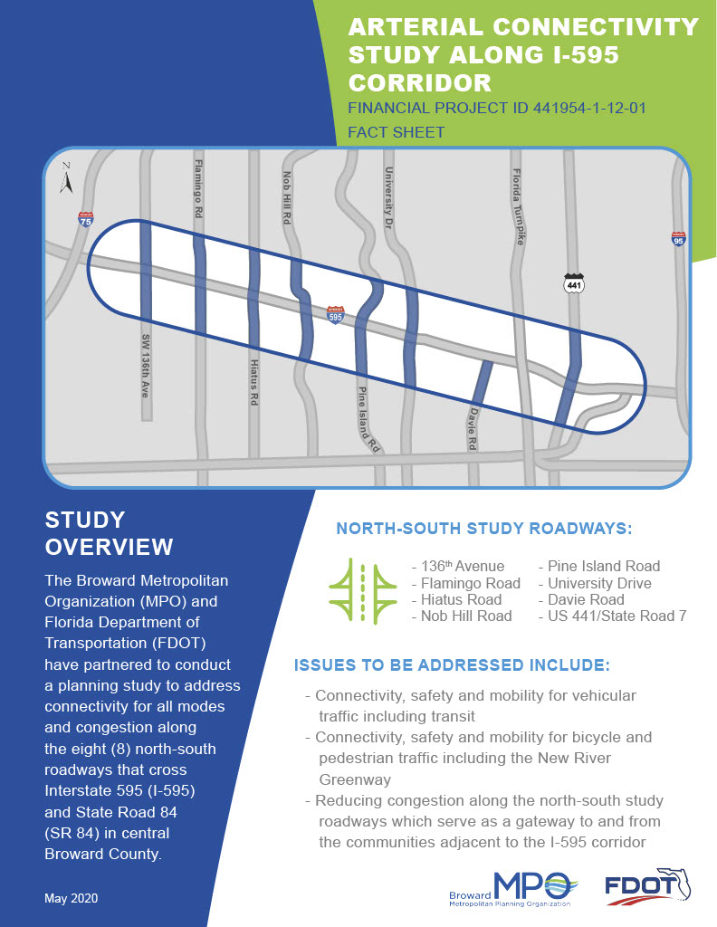 Arterial Connectivity Study Along I 595 Factsheet 05 14 201024 1