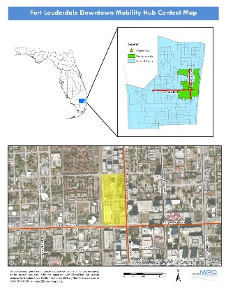 Fort Lauderdale Downtown Mobility Hub Context Map