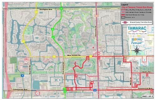 Tamarac BC Transit Map 1