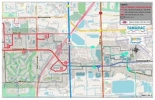 Tamarac BC Transit Map 2