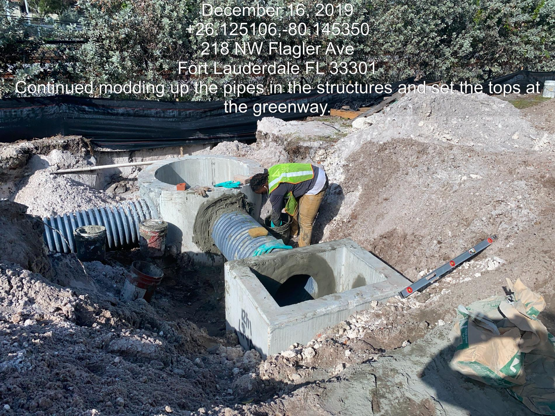 FFDA1777-DEA5-4177-94F1-1059ABA0EEED.jpeg: Installation of drainage structures and pipe on Flagler Ave.