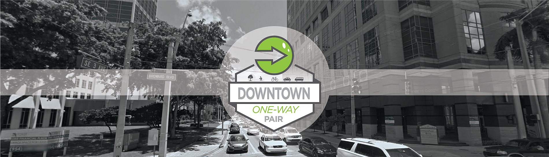 Downtown Oneway Pair Banner