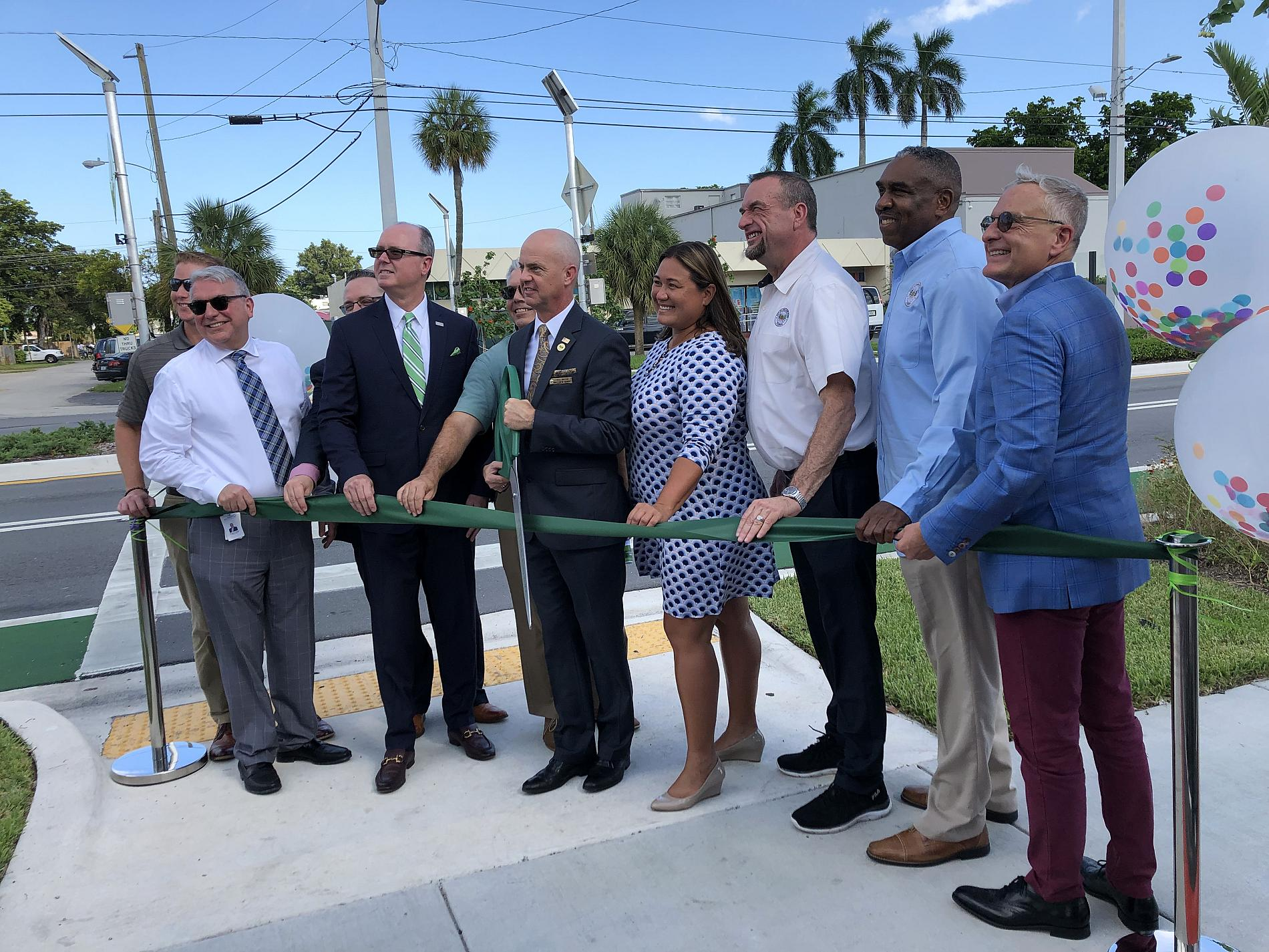 Andrews Ave ribbon cutting